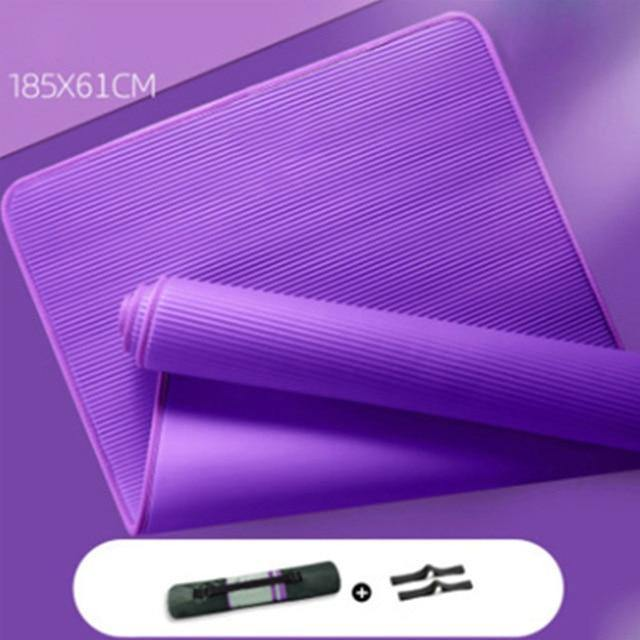 15mm Yoga Mat Carpet  Non-slip Sports Tear Resistant NBR Fitness Mats Sports Gym Pilates Pads With Yoga Bag & Strap  XA111Y - Fitness Reinforce