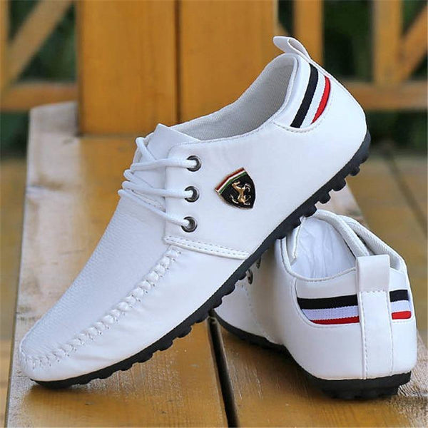 2020 Breathable Solid Color Slip Men Driving Shoes Spring And Autumn New Style Breathable Men's Peas Shoes the British Sneakers - Fitness Reinforce