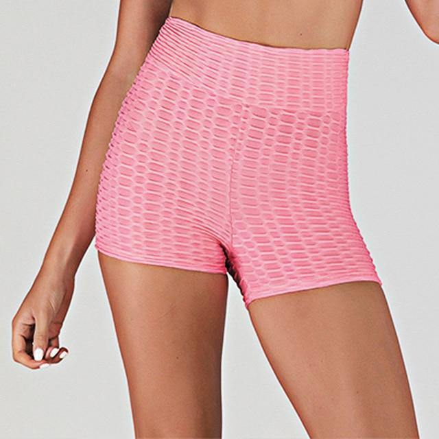 Women Sport Shorts Yoga Clothing Gym High Waist Push Up for Ladies Shorts Leggings Fitness Seamless Hip Lift Tight Sportswear - Fitness Reinforce