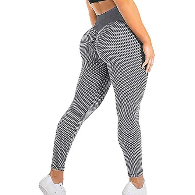 Mesh Sexy Yoga Pants Women High Waist Push Up Seamless Sport Leggings Gym Anti-Cellulite Tights Quick Dry Running Fitness Pants - Fitness Reinforce