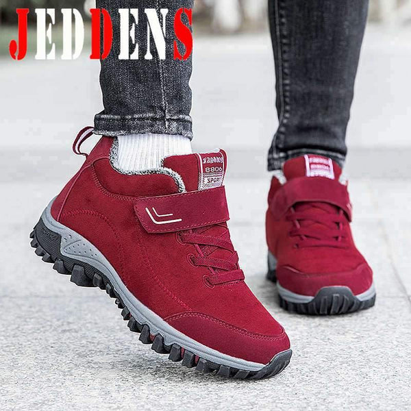 Large Size Running Shoes Women Super Warm Sport Shoes Woman Plus Velvet Winter Sneakers Light Platform Women's Sports Shoe U9 - Fitness Reinforce