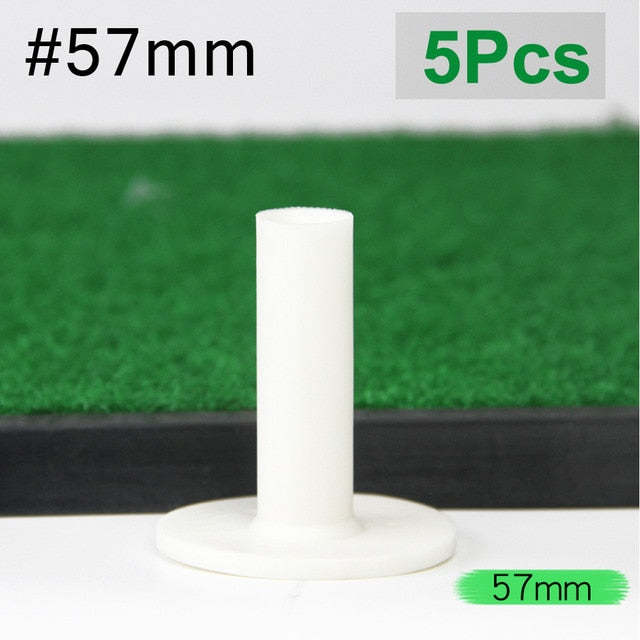 5Pcs Plastic Golf Tees Sports Ball Tees Holder Durable Golf Mat Training Practice Accessories 8 Sizes
