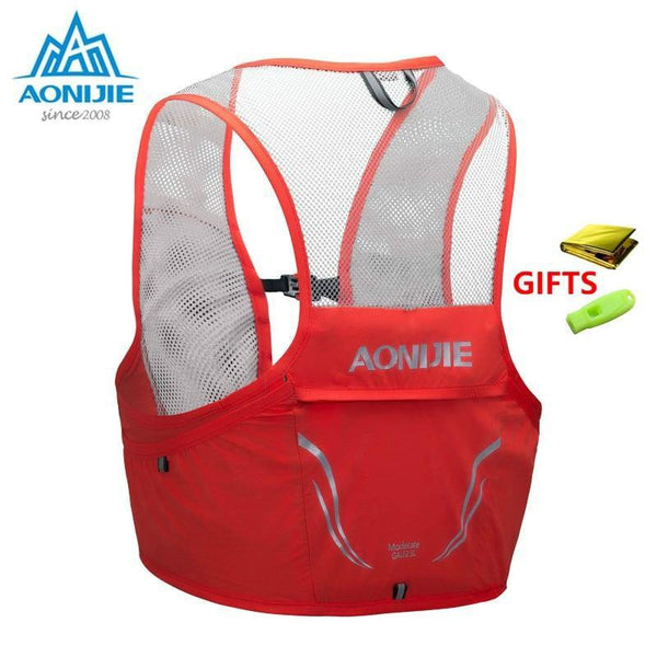 Aonijie Lightweight Backpack Running Vest Nylon Bag 500ml Soft Flask Cycling Marathon Portable Ultralight Hiking 2.5L Bag - Fitness Reinforce