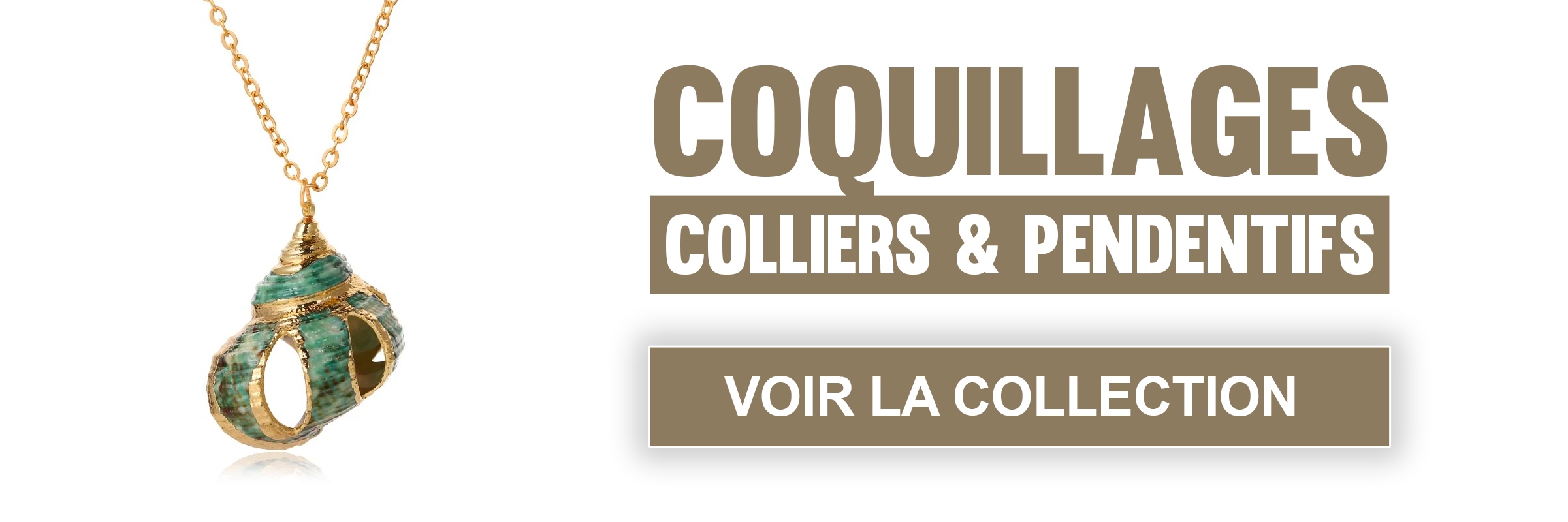 Collection de colliers et pendentifs coquillages