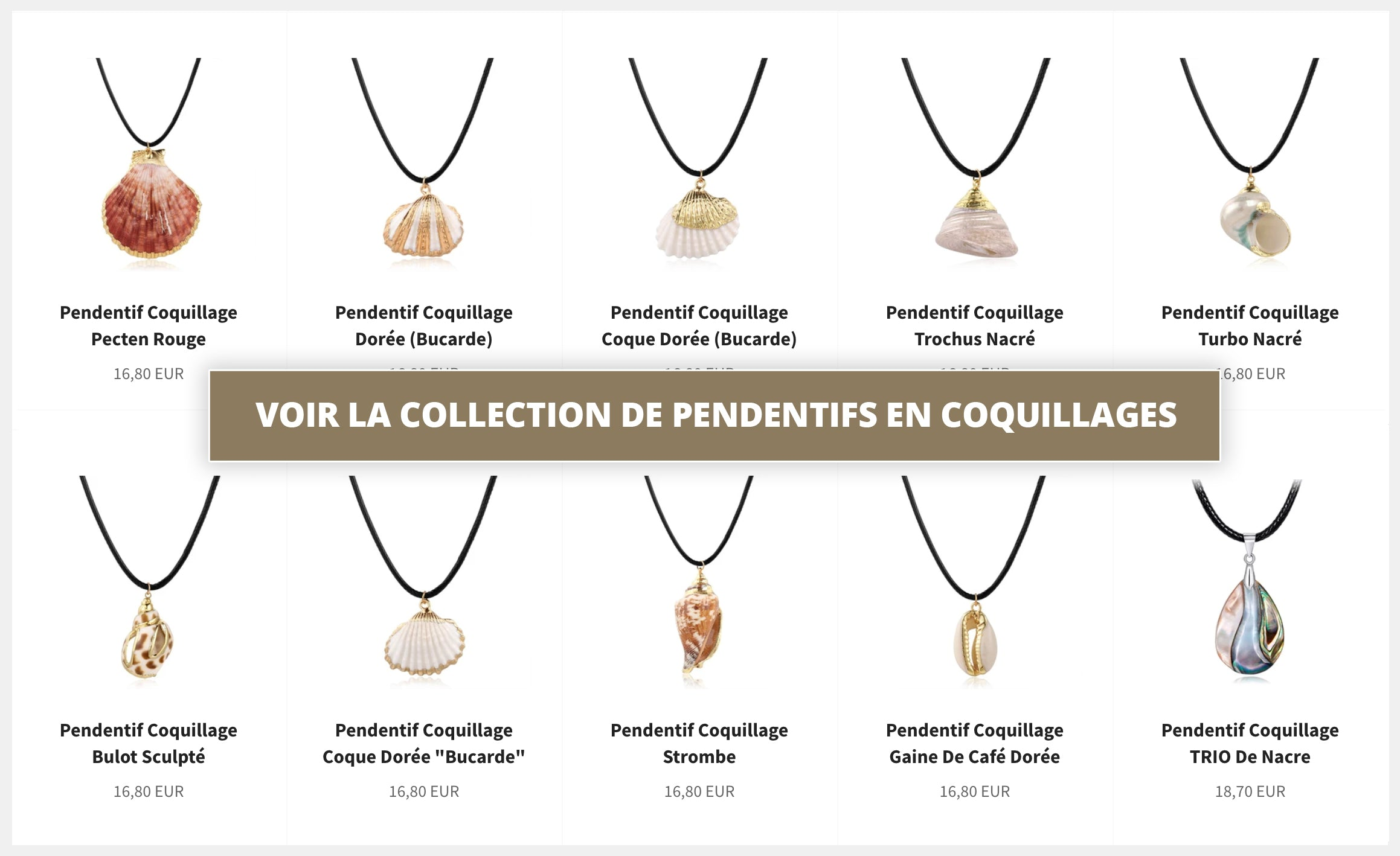 Colliers en Coquillages