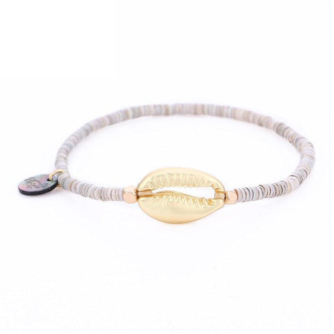 Bracelet Coquillage Or Cauri Surfeur