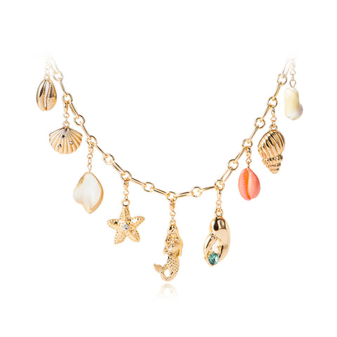 Collier en Coquillages Charmes