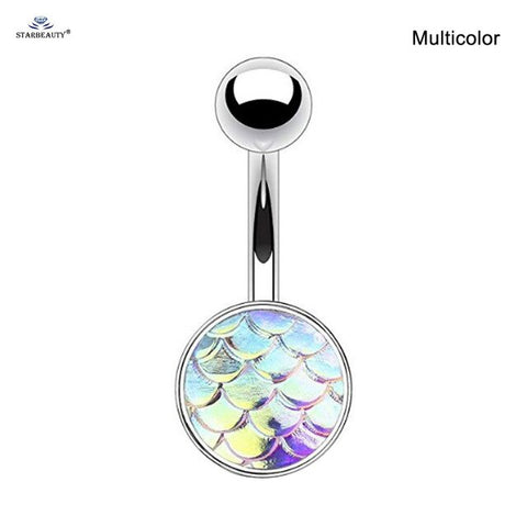 Piercing Nombril Coquillage Ecailles Sirène (Multicolor)