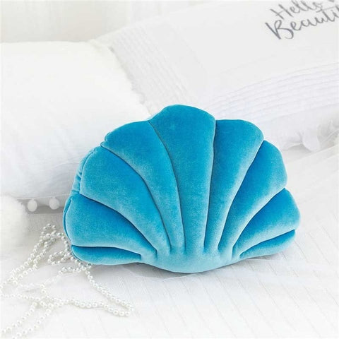 Coussin Coquillage Bleu