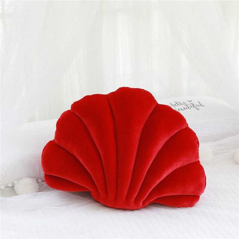 Coussin Coquillage Rouge