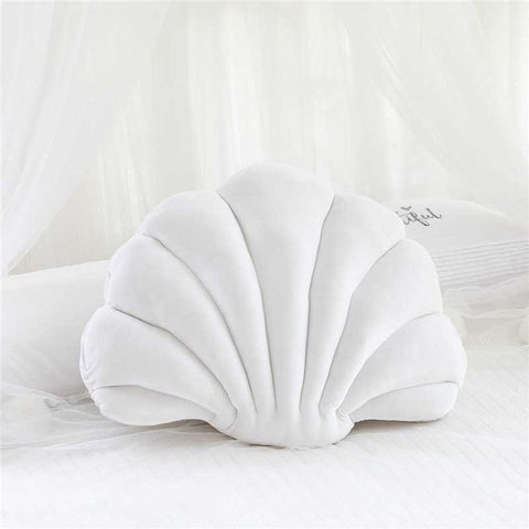 Coussin Coquillage Blanc