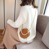 Sac Coquillage <br/> Marron et Perles Blanches
