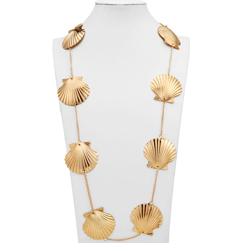 Collier Coquillage Sautoir Coquilles Saint-Jacques