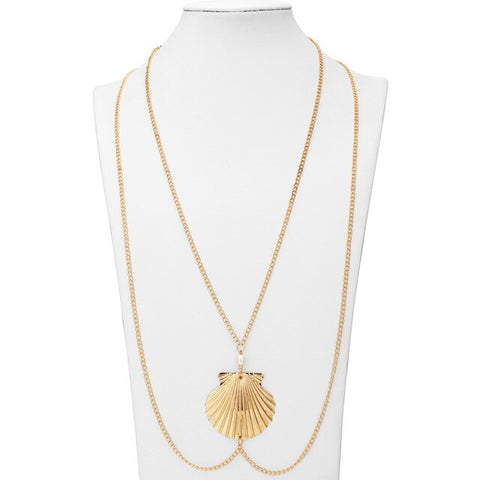 Collier Coquillage Sautoir Coquille Saint-Jacques