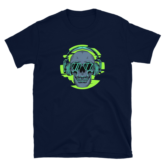 Unisex T-Shirt Skull with headset - Positive Impact Shop