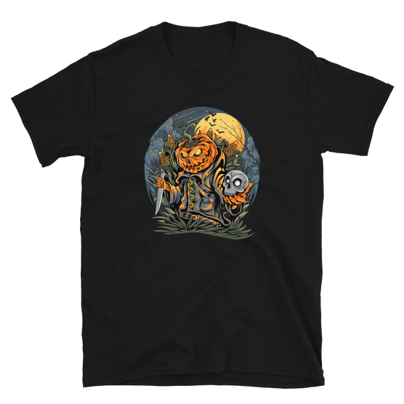 Unisex T-Shirt Scarecrow & head pumpkin - Positive Impact Shop
