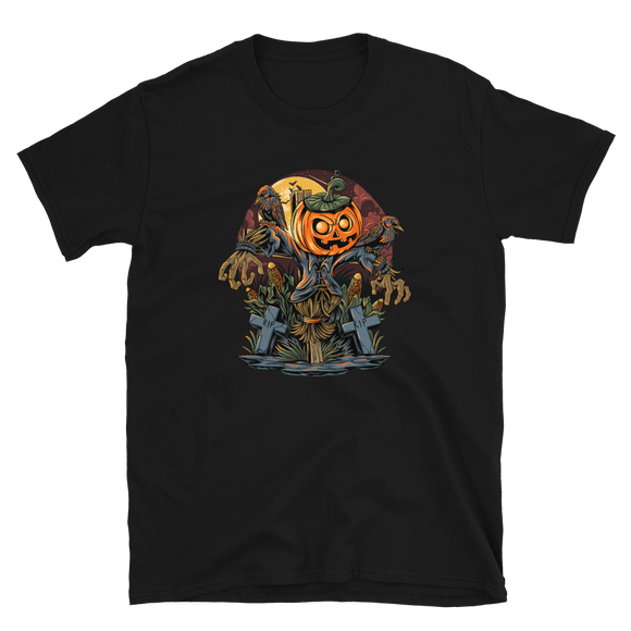 Unisex T-Shirt Scarecrow and Pumpkins - Positive Impact Shop