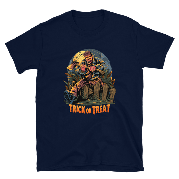 Unisex T-Shirt Zombie Trick or Treat - Positive Impact Shop