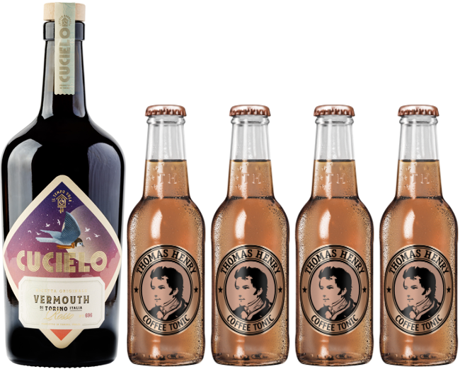 Cucielo Rosso Vermouth & Coffee Tonic pakke - Collection Spirits