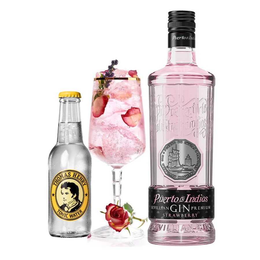 Puerto de Indias Pink Gin & Tonic pakke - Collection Spirits