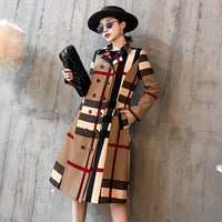 Fall Winter Women's Retro Wool blend