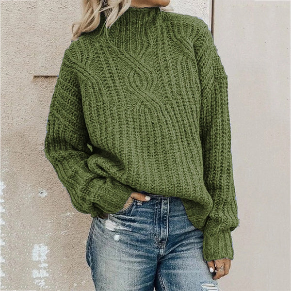 Sweater women's turtleneck twist