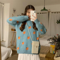 Sweet Cute Round Neck Sweater