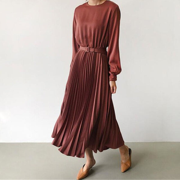 New 2020 Spring Elegant Pleated Dress