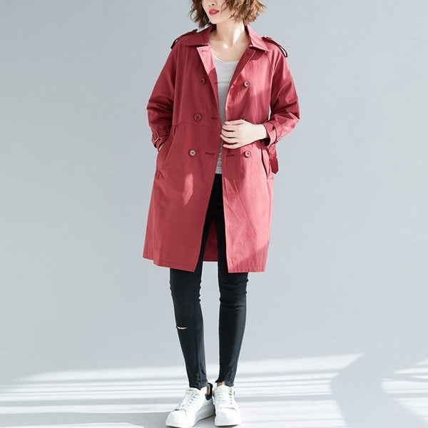 Trench Coat for Women Clothes 2020 Plus Size Women's Windbreaker