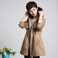 Women's Trench Coat Hooded