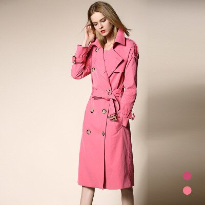 Winter Trench Coats Solid Double