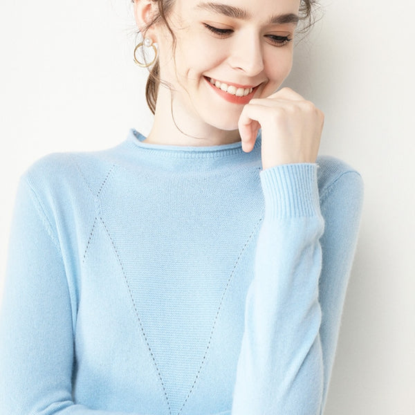 turtleneck women's sweater curl