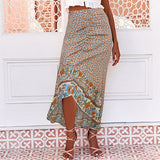 Women's Floral Printed Long Skirts