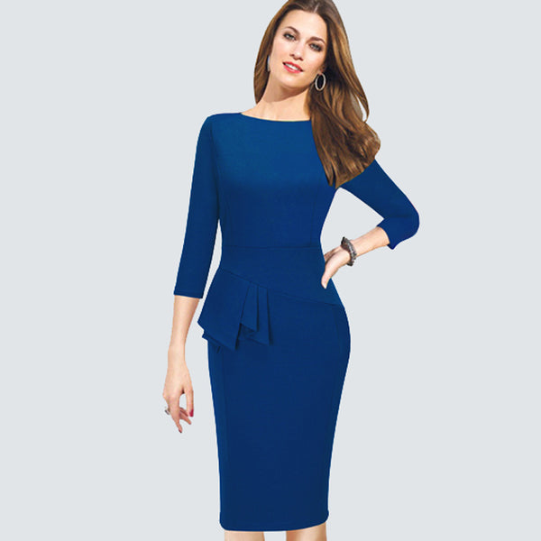 Elegant Women Work Wear Business Dress