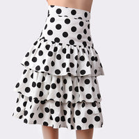 Women's new black white Polka