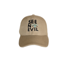 Load image into Gallery viewer, See No Evil beige cap front