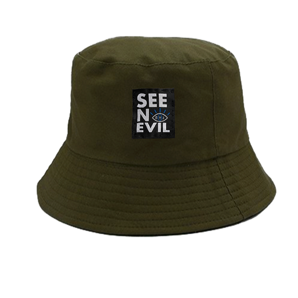 Olive Bucket hat - See No Evil