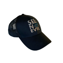 Load image into Gallery viewer, Black Cap is an original see no evil brand product, affordable and can be shipped worldwide