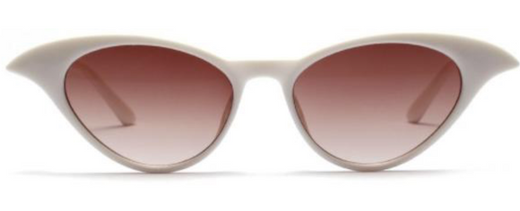 White Cat eyes sunglasses - See No Evil
