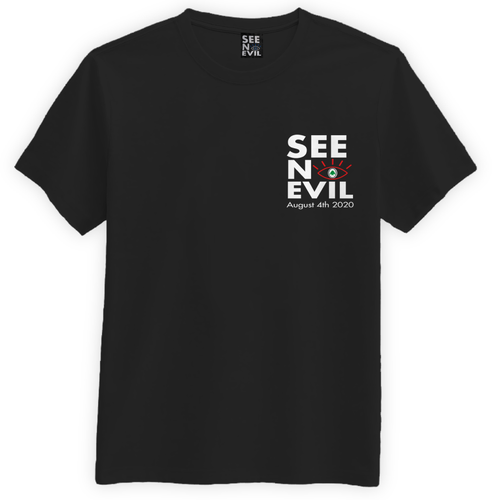 see no evil lebanon support t-shirt