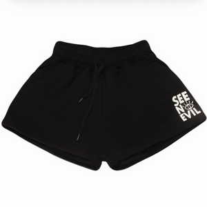 Basic black shorts - See No Evil