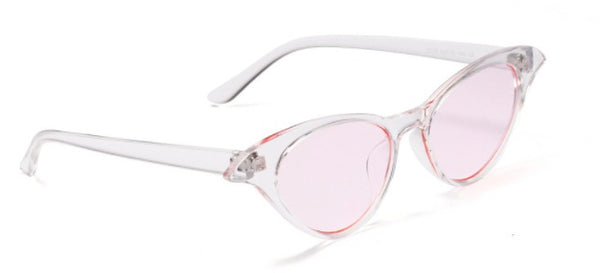 See No Evil pink cat eye sunglasses