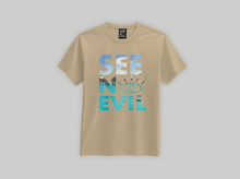 Load image into Gallery viewer, Beach t-shirt is an original see no evil brand product, affordable and can be shipped worldwide
