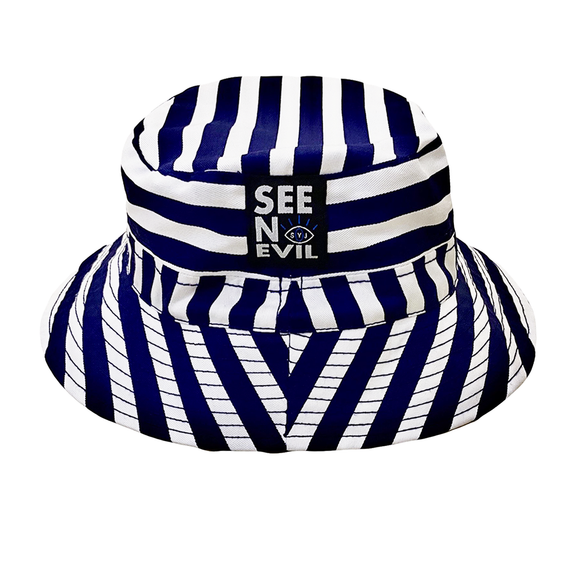 Striped Bucket hat - See No Evil