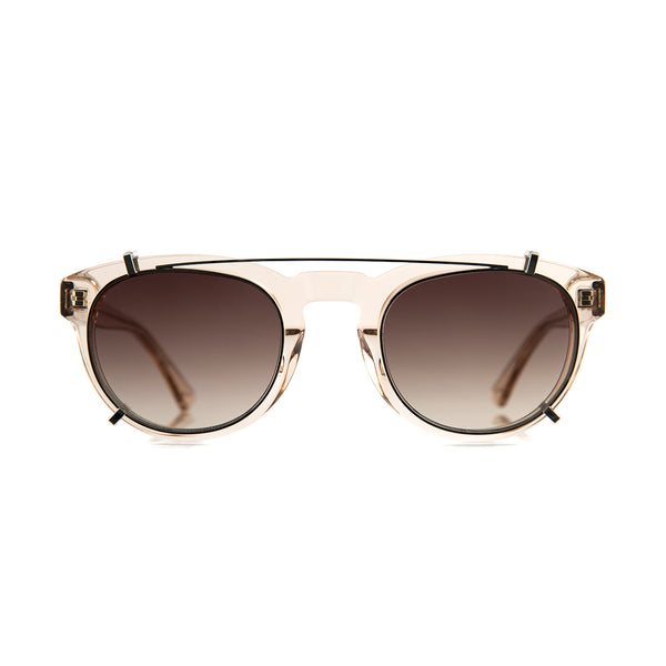 Freddie Clip On Lenses in Solid Brown