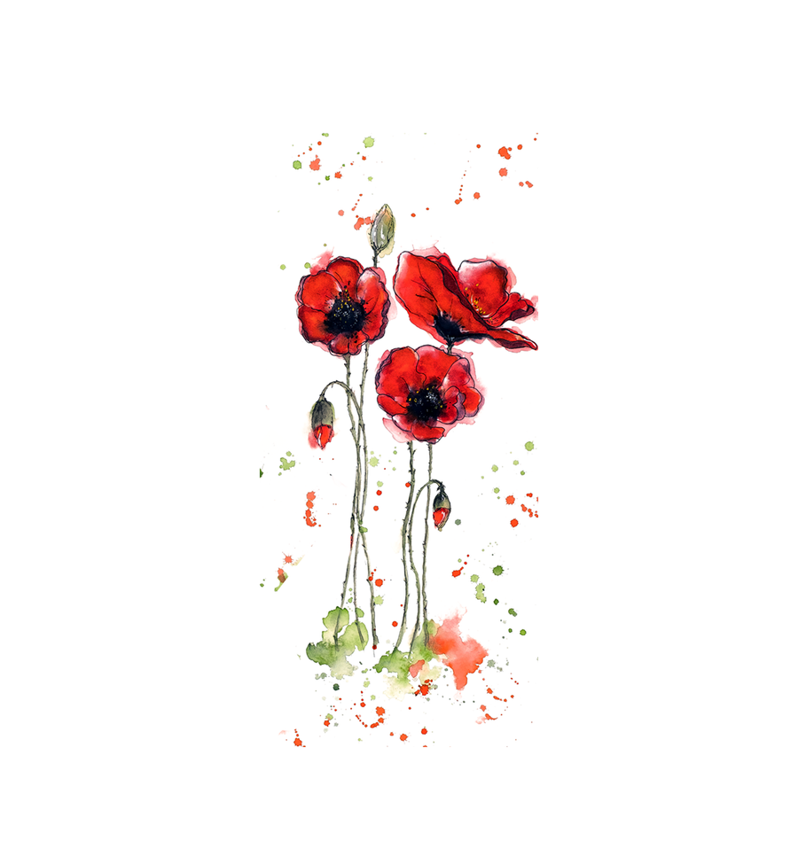 ICE° Bottle Poppies - Stainless Steel Water Bottle