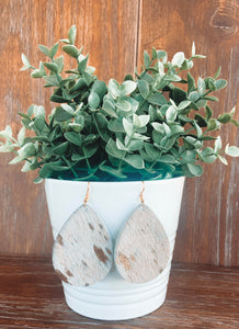 Cowhide Drop Earrings