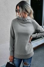 Load image into Gallery viewer, Cozy Hoodie With Button Side Detail