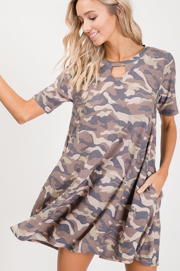 Allie Camo Key Dress/Tunic