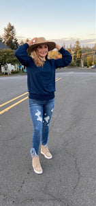 Distressed With A Flair Denim